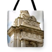 Lion On Pedestal Tote Bag