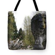 Lion Sculpture Tote Bag