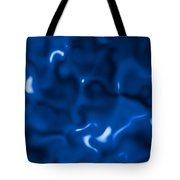 Liquid Blue Abstract Tote Bag