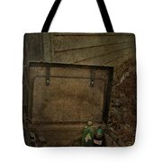 Liquid Letters Of Leaving  Tote Bag by Empty Wall