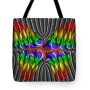 Liquid Metal Butterfly Tote Bag