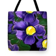 Liquid Violets Tote Bag