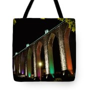 Lisbon Historic Aqueduct By Night Tote Bag