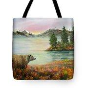 Little Bear Big World Tote Bag
