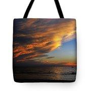 Little Boat Sunset Tote Bag