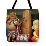 Little Buddhas In Silom In Bangkok In Thailand Tote Bag