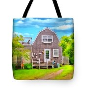 Little Cottage By The Sea Tote Bag