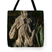 Little Girl Turned To Stone Tote Bag