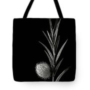 Little Green Balls In Black And White Tote Bag
