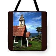 Little Green Church In Hawaii Tote Bag