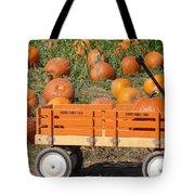 Little Orange Wagon Tote Bag