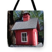 Little Red Birdhouse Tote Bag