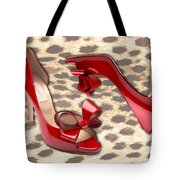 Little Red Bow Peep Toes Tote Bag