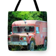 Little Red Firetruck Tote Bag