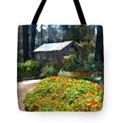 Little Rustic Cabin In A Clearing In The Woods Tote Bag