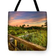 Little White Bench Tote Bag
