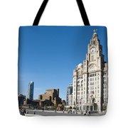 Liverpool Skyline Tote Bag