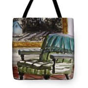 Living Room Moonrise Tote Bag