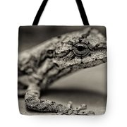 Lizard In Bw Tote Bag