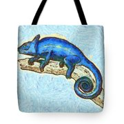 Lizzie Loved Lizards Tote Bag by Nikki Marie Smith