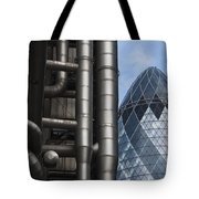 Lloyds Of London And The Gherkin Building Tote Bag