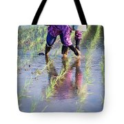 Local Planting Rice By Hand Tote Bag