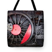 Locomotive Wheel Tote Bag by Carlos Caetano