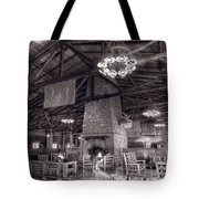 Lodge Starved Rock State Park Illinois Bw Tote Bag