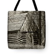 Log Building In The  Woods Tote Bag