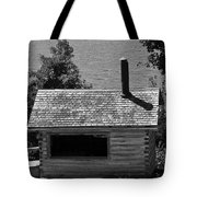 Log Cabin At Discovery Harbour Tote Bag