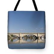 London Bridge And Reflection Tote Bag