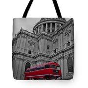 London Bus At St. Paul's Tote Bag