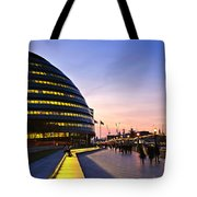 London City Hall At Night Tote Bag