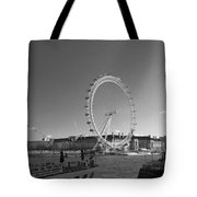 London Skyline Edf Eye Bw Tote Bag