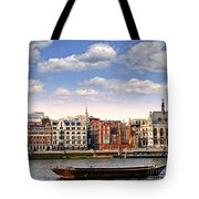 London Skyline From Thames River Tote Bag