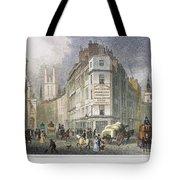 London: Street Scene, 1830 Tote Bag