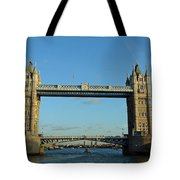 London Tower Bridge Looking Magnificent In The Setting Sun Tote Bag