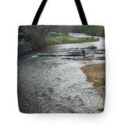 Lone Fisherman 2 Tote Bag