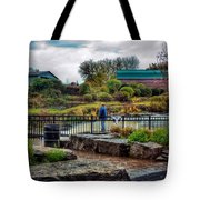 Lone Fisherman Tote Bag