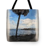 Lone Palm Tree Tote Bag