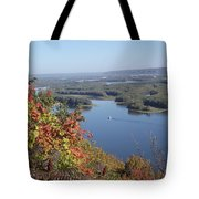 Lone River Boat Tote Bag