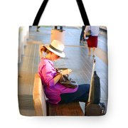 Lone Traveler Tote Bag