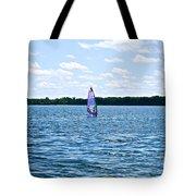 Lone Wind Surfer Tote Bag