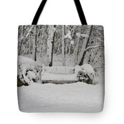 Lonely In Winter Tote Bag