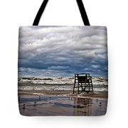 Lonely Lifeguard Chair 2 Tote Bag