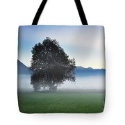 Lonely Tree In The Fog Tote Bag