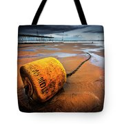 Lonely Yellow Buoy Tote Bag