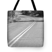 Long And Winding Road Bw Tote Bag