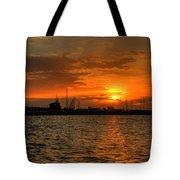 Long Beach Harbor Sunrise Tote Bag