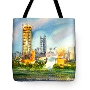 Long Beach Oil Islands Tote Bag